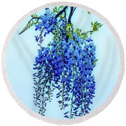 Round Beach Towel featuring the photograph Wisteria by Chris Lord