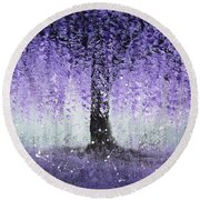 Wisteria Dream Round Beach Towel