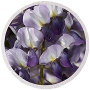 Wisteria In Spring Round Beach Towel