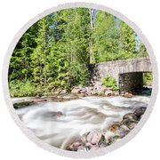 Round Beach Towel featuring the photograph Wistful Afternoon by Margaret Pitcher