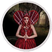 Witch Queen Of New Orleans Round Beach Towel