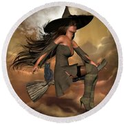 Witch Way  Round Beach Towel