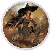 Witch Way  Round Beach Towel