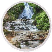 Round Beach Towel featuring the photograph With All I Have by Laurie Search