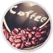 With Light And Coffee Love Round Beach Towel