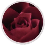 With This Rose Round Beach Towel