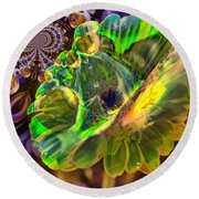 Round Beach Towel featuring the photograph Within The Mind Meld by Jeff Swan
