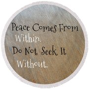Within Without Round Beach Towel