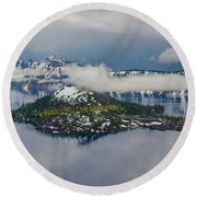 Wizard Island Round Beach Towel