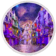 Wizard Mall Round Beach Towel