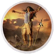 Wolf Clan Round Beach Towel
