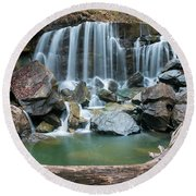 Wolf Creek Falls Round Beach Towel