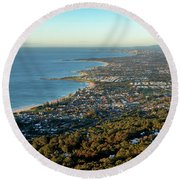 Round Beach Towel featuring the photograph Wollongong by Nicholas Blackwell