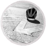 Wolverine Helmet On The Diag M Round Beach Towel