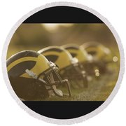 Wolverine Helmets Sparkling In Dawn Sunlight Round Beach Towel
