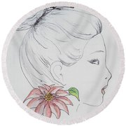 Woman Design - 2016 Round Beach Towel