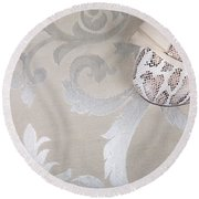 Round Beach Towel featuring the photograph Women's Shoe by Andrey  Godyaykin