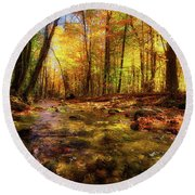 Wonalancet River Round Beach Towel
