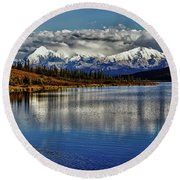 Wonder Lake IIi Round Beach Towel