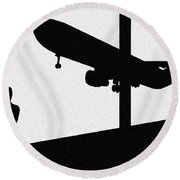 Wonder Of Flight Round Beach Towel