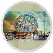 Wonder Wheel Round Beach Towel