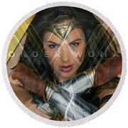 Wonder Woman Art Round Beach Towel by Marvin Blaine