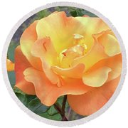 Wonderful Rose Round Beach Towel