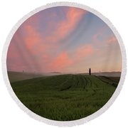 Round Beach Towel featuring the photograph Wonderland I - Tuscany by Yuri Santin