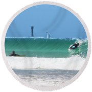 Round Beach Towel featuring the photograph Wonderwall by Terri Waters