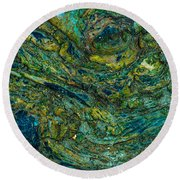 Wood Burl Abstract Round Beach Towel