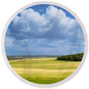 Wood Copse On A Hill Round Beach Towel