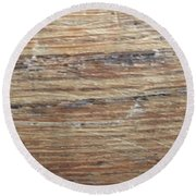 Wood Grain 1 Round Beach Towel
