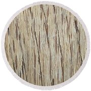 Wood Grain 2 Round Beach Towel