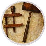Wood Tools Round Beach Towel