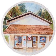 Round Beach Towel featuring the painting Woodcock Insurance In Watercolor  W406 by Kip DeVore