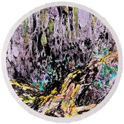 Wooded Growth Round Beach Towel