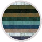 Wooden Abstract Xl Round Beach Towel