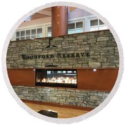 Woodford Reserve Fireplace Round Beach Towel