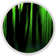 Woodland Abstract Iv Round Beach Towel