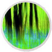 Woodland Abstract Vi Round Beach Towel