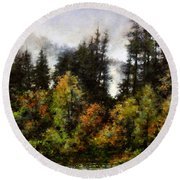 Woodland Bottoms In April Round Beach Towel