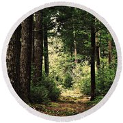 Woodland Hush Round Beach Towel
