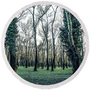 Woodland Round Beach Towel by Lana Enderle