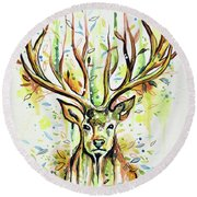 Woodland Magic Round Beach Towel
