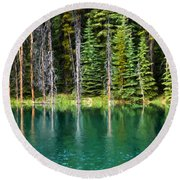 Woodland Reflections Round Beach Towel