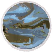 Woodland Stream Round Beach Towel