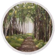Woods Round Beach Towel