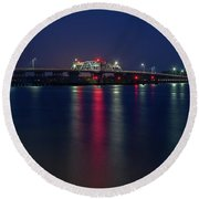 Woods Memorial Bridge Round Beach Towel