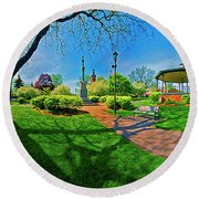 Woodstock Square Historic District 360 Spring Round Beach Towel
