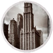Woolworh Building 2008. Round Beach Towel